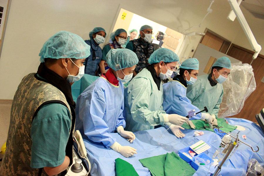 Stenting procedure